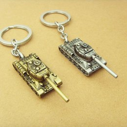 chaveiro anel bronze Desconto 2 cores Wot Game World of Tanks Bullet KeyChain 4cm tank modelo pingente chaveiro Gift Key Chain Ring 12pcs / lot