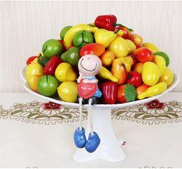 Wholesale Fruits Decorations Kitchen - Brand Home Decor Artificial Decoration Plastic Fruit Mini Fake Vegetable For Garden House Kitchen 2016(Get Rose Vine As Gift)