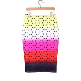 Wholesale Dotted Ladies Skirts - Novelty Gradient Dots print women middle skirts 2016 new vogue lady faldas girls 2016 fashion summer clothing mix order factory wholesale