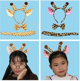 Wholesale Headband Party Favors - 2017 Animal Horn Deer Antlers Ear Headband Kids Cosplay Performance Show Hair Accessories Halloween Birthday Party Favors Gift c116