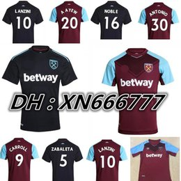Wholesale West Home - 2017 Chicharito soccer jerseys West ham united 2018 football shirt CARROL MOBLE LANZINI 17 18 home away FEGHOULI ARNAUTOVIC WESTHAM jersey