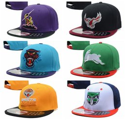 Wholesale Nrl Snapback Wholesale - NRL Street Caps Snapback Hip Hop Hats Ball Summer Unisex Sport Casquette Fashion Baseball Panel Outdoor Strapback Gorras More Colors Brand