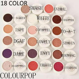 Wholesale Eye Shadow Colours - 2016 New Colour Pop Eyeshadow Colourpop Blush Single Color Eye Shadow Powder 18 Color Durable Waterproof Makeup Cosmetics Free Shipping