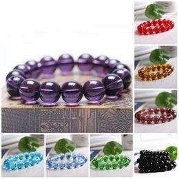 Wholesale Carnelian Bracelets - Beaded Bracelets Stretch 8mm Natural Stone Bracelet Beads Jewelry Carnelian Amethyst Round Beads Bracelet Purple Healing Crystal Bracelets