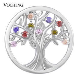 Wholesale NOOSA CZ Stone Ginger Snap Jewelry Colors mm Copper Material Tree Button VOCHENG Vn