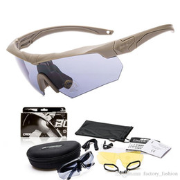 Wholesale Ess Goggles New - New Arrival 2016 Military ESS CROSSBOW Sunglasses goggles 3 Lenses With myopia frame crossbow Black Yellow Colors Outdoor Cycling Eyewear