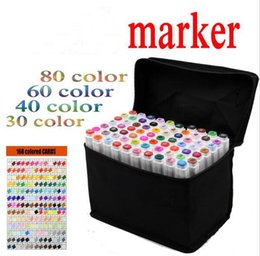 Wholesale Sketching Sets - Art mark pen 168 color Alcohol Marker pen soluble pen cartoon graffiti art copic sketch markers for designers TOUCHFIVE markers pen