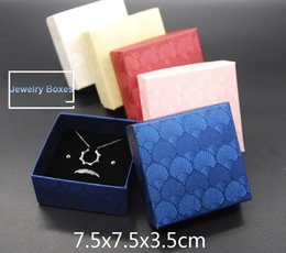 Wholesale Jewelry Box For Necklace Wholesale - DHL  FedEx FREE 100pcs 7.5*7.5*3.5cm Jewelry Boxes Top Quality Gift Boxes for earrings necklace Packaging Box 5 Colors optional