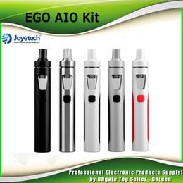 Wholesale Ego Starter Led - Genuine Joyetech EGO Aio Kit 1500mAh Quick Start Kit All in One Starter Kit with Colorful LED vs 100% authentic DHL Free 2220026
