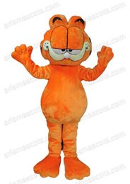 Wholesale garfield cartoon - AM0546 Garfield Cat mascot costume Fur mascot Cartoon Character mascot suit