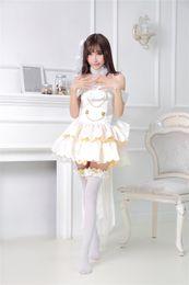 Wholesale Girls Maid Costume - Wholesale-Love Live Maki Nishikino Romantic Hanayome Wedding Dress Women Maid Cosplay Costumes Girls Lolita Dress