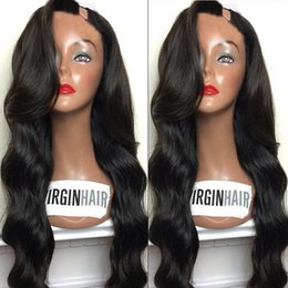 Wholesale Straight Long Burgundy Human Wig - U Part Wig Human Hair For Black Women Grade 8A Unprocessed Body Wave Brazilian Upart Wigs 1*3 Left Part For African Americans