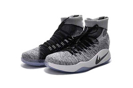 Wholesale Thigh For Men - New Arrival Hyperdunk 2016 Lapel men boots Shoes for Top quality Rio Olympic USA Weaving Airs Cushion Trainers Sneaker Size 40-46
