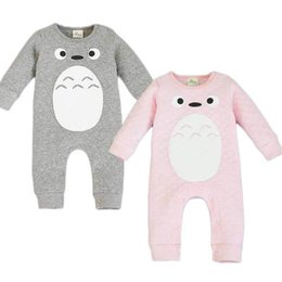 Wholesale 24 Month Rompers For Boys - 2016 New Baby Clothing Totoro Rompers for Newborns Body Suit Kids Clothes Boys Girls Jumpsuit Baby Romper Cotton Infant Clothing