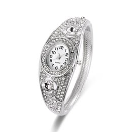 Wholesale Water Singapore - New Design Diamond Watches Singapore Movement Luxury Watches Casting Bangle Band Ladies Watches For Women 61166087