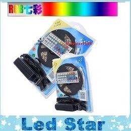 Wholesale Driver Control - 5050 Led Strips Light 5M Set RGB Led Strip 12V + Remote Control + 12V 5A Power Drivers With EU AU US UK Plug