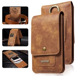 Wholesale Multifunctional Leather Bag - luxury pouch PU leather Wallet Card Slots phone case flip multifunctional cover Magnetic holster mobile phone bag Ring pocket Shell