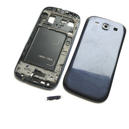 Wholesale galaxy s3 back cover blue - NEW Full Housing Back Battery Door Cover Case For Samsung Galaxy S3 2015 i9300 i9308 Blue