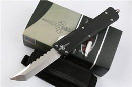Wholesale Hunting Knife Sets - Promotion Troodon Hellhound Blade AUTO Tactical Knife D2 Tanto Satin Blade Aviation aluminum Handle Outdoor Survival Knife EDC Pocket Knives