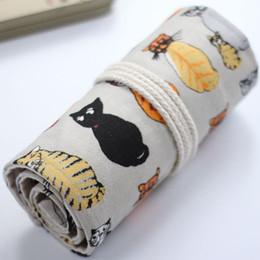 Wholesale Aluminum Curtains - Wholesale- Cotton Canvas Pencil Curtain Bag 36 46 72 Hole Pen Shade Head Back Cat 1114-2