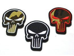 Wholesale Patch Airsoft - GPS-12 2.2*3 inch Wholesale 3D Patches with magic tape the Punisher Skull COMBAT MORALE MILSPEC AIRSOFT ISAF ACU sew on patch