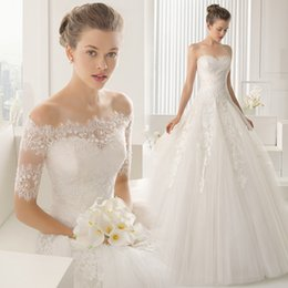 Wholesale Lace Arm Wedding Dresses - 2016 Wedding Dresses with Detachable Train Sweetheart Beaded Bodice Spring Wedding Gowns Vintage Ball Gown Wedding Dress with Veil Arm Bands