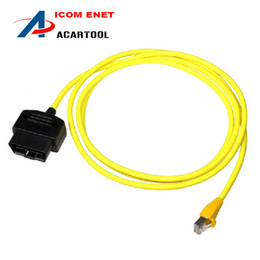 Wholesale Icom Code - New arrival for BMW ENET Ethernet to OBD Interface Cable E-SYS ICOM Coding F-Series Diagnostic Cable Free Shipping
