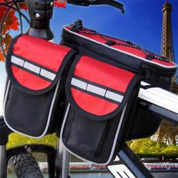 Водонепроницаемый 3 цвета двойные стороны седло Велоспорт MTB велосипед сумки спортивная рама передняя трубка велосипед сумки для открытый Велоспорт от Поставщики руководство по инструментам