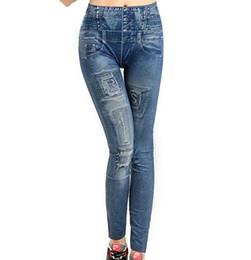 Wholesale Cheap Faux Pants - 2016 hot sale European style sexy slim stretch cheap women nine faux jeans leggings jeggings leggins pants 8 colors