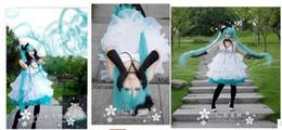 Vocaloid weihnachtskostüme online-Anime Vocaloid Magician Cosplay weißes Kleid Loro Rita Dienstmädchen Outfit Halloween-Kostüm für Frauen Party / Weihnachten