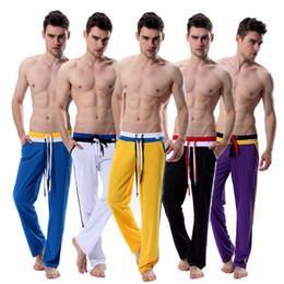 Vendita all'ingrosso-Hot Wangjiang Gay mens pantaloni da jogging pantaloni lunghi rosso sciolto Sport Yoga Jogging marchi di abbigliamento palestra in esecuzione pantaloni da uomo inverno da