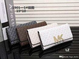 Wholesale Michael Wallets - Famous Designer Women Wallets PU Mott Leather M K Jet Set Travel Saffiano Brand Lady Korse Fashion 3a3 MICHAEL Purse Hot sale