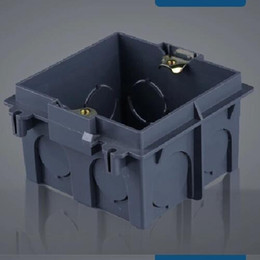 Wholesale Enclosure Plastic - Plastic Wall Plate wall mount junction box type 86 Switch socket stair step light Cassette outlet wall switch box,enclosure flush box