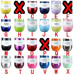 Wholesale Christmas Mug Wholesaler - 9 oz wine glasses cups stemless wine tumblers bottles women red wine glass cup 21 colors with lids Christmas party beer mugs