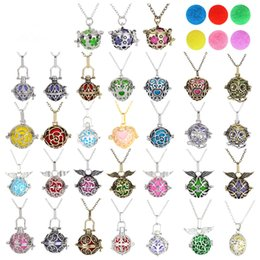 Wholesale 14k Gold Ball Necklace - 2017 Chimes Pregnancy Ball necklace Mexico Owl Aromatherapy Hood Necklace Variety of Cages Pendant Lockets perfume necklaces Women Gifts
