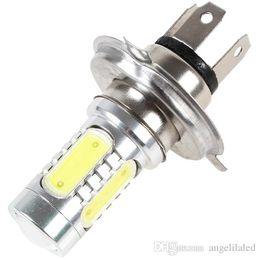 Wholesale 24v Xenon Bulb - H4 9003 HB2 COB Led Car Fog Bulb Xenon White 6000K Headlight Tail Driving DRL Bulb 12V-24V