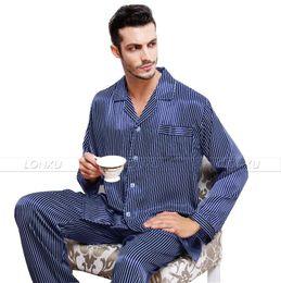 Wholesale Pajama Shirt Satin - Wholesale-Mens Silk Satin Pajamas Set Pajama Pyjamas PJS Sleepwear Set Loungewear U.S,S,M,L,XL,XXL,3XL Plus_3 Colors