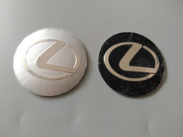 Wholesale Center Stickers For Wheels - 56.5mm 3D Car Badge Wheel Center Hub Cap Sticker Durable Logo Brand Emblem Car Accessory Anti Fade Wheel Decoration Fit For Lexus