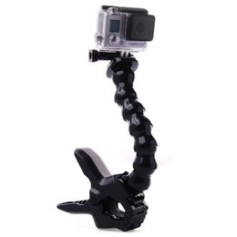 Wholesale Cam Accessories - Action Cam Accessories for Gopro Hero 4 3+ 3 2 1 sj4000 5000 6000 Camera Accessories Jaws Flex Clamp Mount + Adjustable Neck