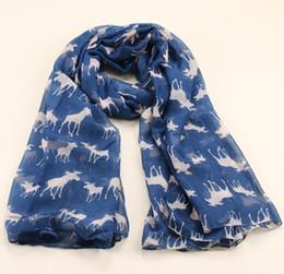 Wholesale christmas shawl for girls - 2016 New Fashion Milu Deer Pattern Velvet Scarf Infinity Scarves For Women Girl Christmas Gift Print Shawl 185*100cm