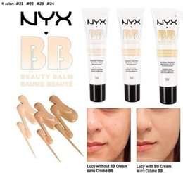 Wholesale Bb Cream Perfect - Newest NYX Perfect Cover BB Cream 30ml Cosmetic Concealer Whitening Isolation Skin Care Natural Naked Makeup Concealer Soft Skin 4 Colors