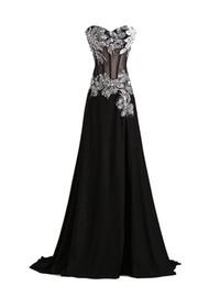 Wholesale Vestidos Renda Sexy - Real Photos Black Chiffon Evening Dresses Sexy Slit Side Mermaid Long Prom Gowns 2016 Vestidos De Renda