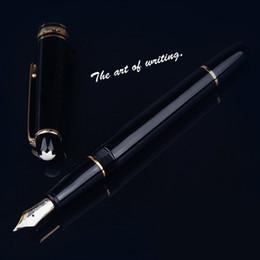fontana d'oro Sconti Penna stilografica in resina da uomo Logo Cancelleria da regalo penne Forniture per ufficio PIX Penne a inchiostro Qualità 14k Penna d'oro con intaglio Penne con scatola