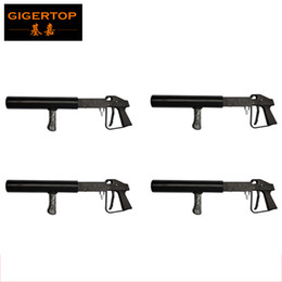 Freeshipping 4Pcs / Lot Co2 DJ Gun Handheld Stage Effect Light Haute qualité Night Club DJ CO2 Jet machine Effet spécial Co2 Party Cool Smoke à partir de fabricateur