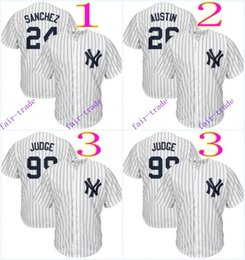 Wholesale New Jersey Yankees - new york yankees #24 gary sanchez #26 tyler austin #99 aaron judge 2016 MLB Baseball Jersey Cheap Rugby Jerseys Authentic