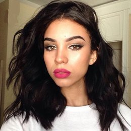 Wholesale Short Bobbed Hairstyles - Lace Front Human Hair Wigs Short Human Hair Bob Wigs Peruvian Body Wave Full Lace Wigs for Black Women G-EASY Hair