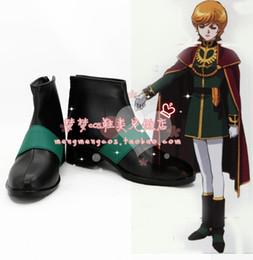 Wholesale Anime Gundam - Wholesale-MOBILE SUIT GUNDAM UC Mineva Lao Zabi Cosplay Boots shoes shoe boot #NC232 anime Halloween Christmas