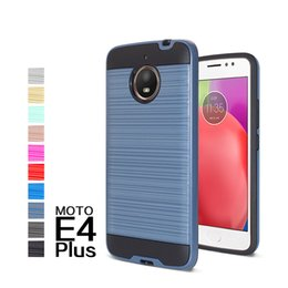 Wholesale Zte Dual - Hybrid Brushed Dual Layered Shockproof Armor Phone Case For Moto E4 plus ZTE Blade Zmax Pro 2 Z982