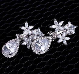 Wholesale Restore Copper - wedding earring Restoring ancient ways of fashion snow water drop CZ Dangle & Chandelier Earrings