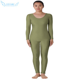 Wholesale Cosplay Costumes Open - Wholesale-Blackish Green Lycra Spandex Open Face Zentai Suit Halloween Cosplay Costume Stage Performance Clothes